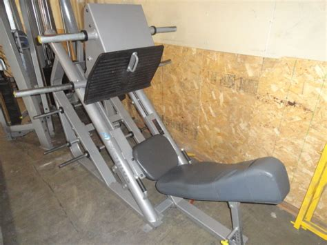 Incline Leg Press Sled Weight by Midwest Used Fitness Equipment Nautilus Xpload Leg Press