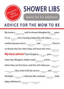 printable mad libs baby shower by elinicdesigns on etsy