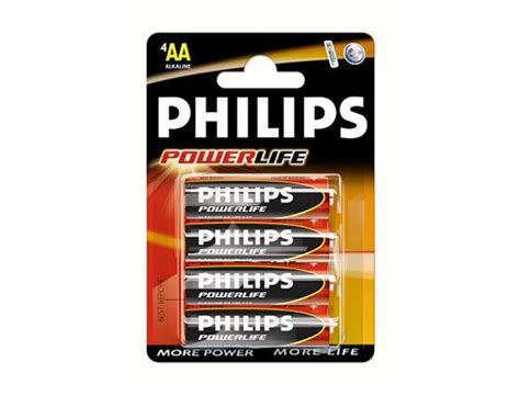 Philips Alkaline Aa Bp2 Berkualitas lr6pb4c 10 philips powerlife aa 1 5v batteries in 4 per pack batteries digitalpromo