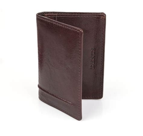 Mocca Leather Wallet dents card wallet mocca italian leather dents wallets