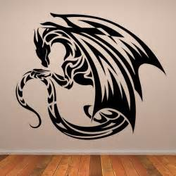 Wall Design Sticker Winged Dragon Design Wall Art Sticker Wall Decals