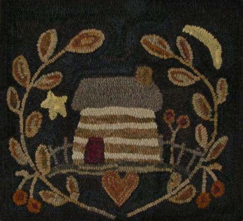 primitive hooked rug ebay