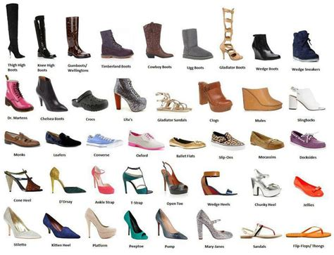 all types of shoes randomness