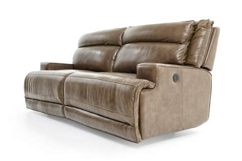Futura Leather Reclining Sofa by Futura Leather E1270 Electric Motion Sofa