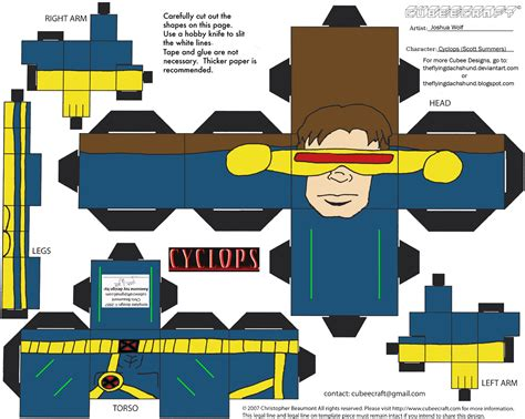 Marvel Papercraft - marvel3 cyclops cubee by theflyingdachshund on deviantart
