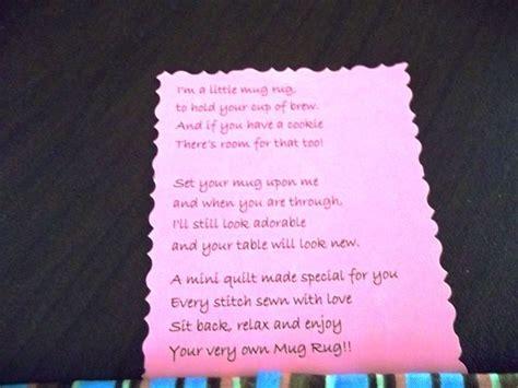 poem rug mug rug poem search mug rugs pot holders table runners poem and