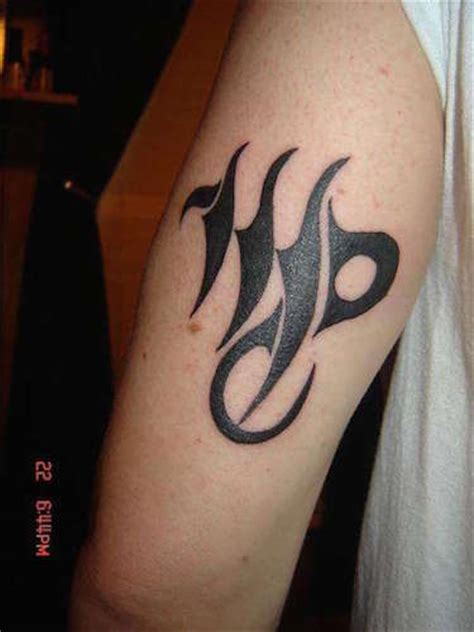 virgo tattoos for men letter m for www pixshark images