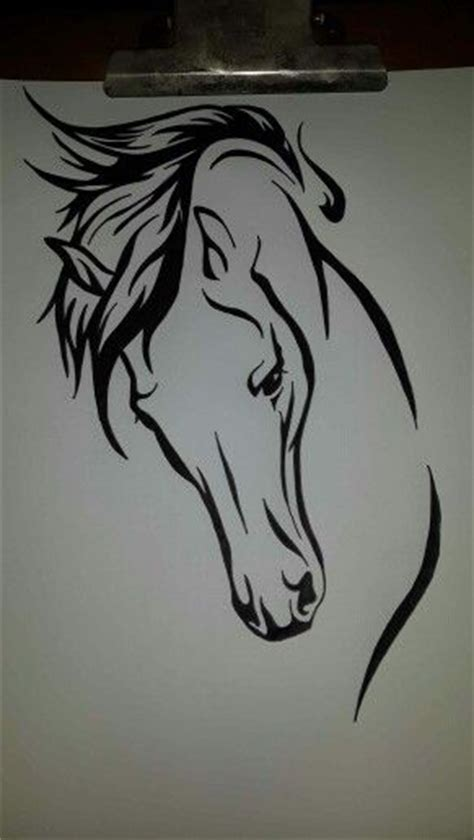 tribal horse head tattoos best 25 tribal ideas on swirl