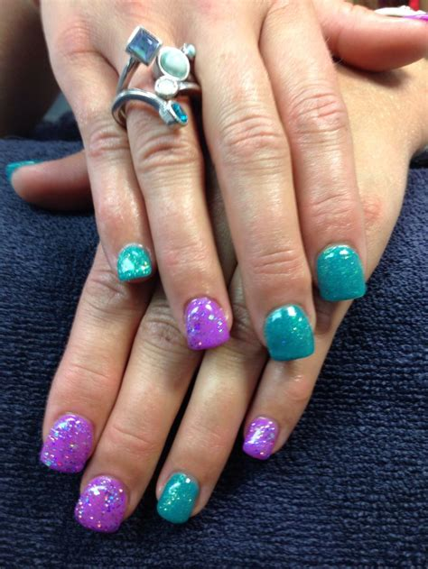 teal gel nail designs danae s nails purple and teal gel nail art nails i ve