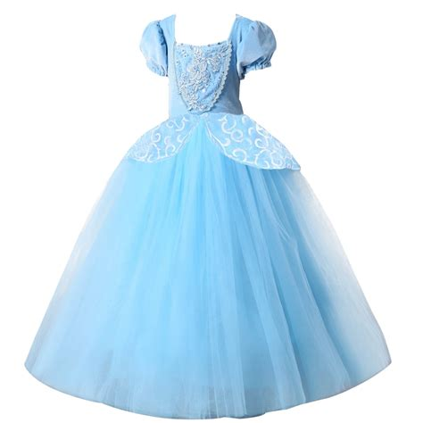 2018 princess cinderella dress blue