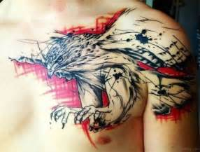 watercolor tattoo eagle 41 realistic eagle tattoos on chest
