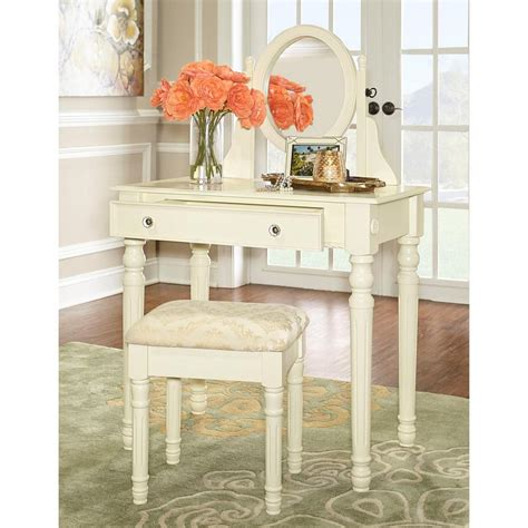 Bedroom Vanity White by Home Decorators Collection Lorraine Bedroom Vanity Set In