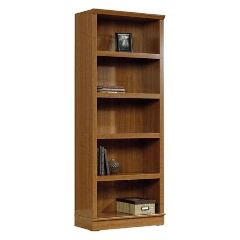 Sauder Oak Bookcase Sauder Homeplus 5 Shelf Bookcase Oak At Hayneedle