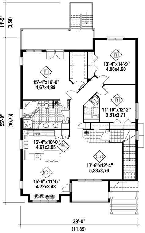 multi unit home plans multi level multi unit house plans home design pi 41353