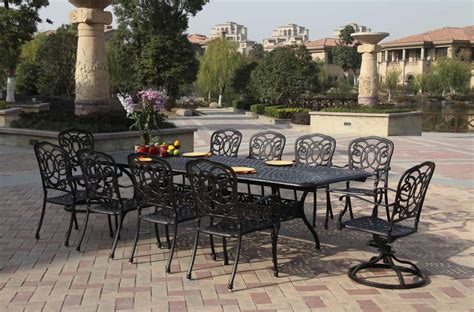 Patio Furniture Dining Set Cast Aluminum 92? 120