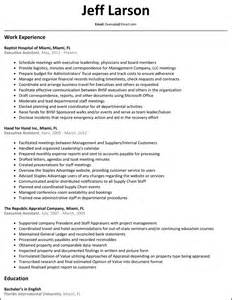 executive assistant resume resumesles net