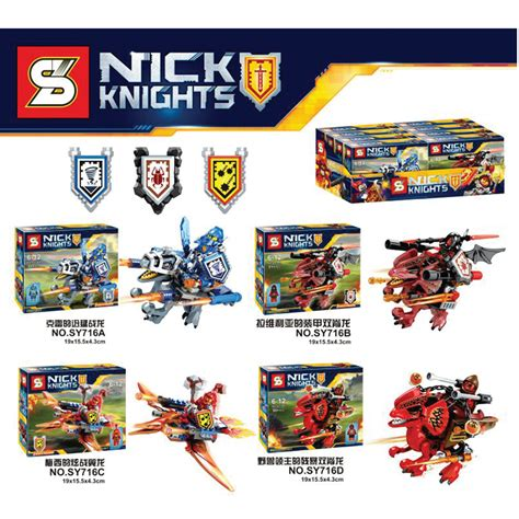 Lego Compatible Sy716 Nexo nexo knights combination ultimate clay macy beast master