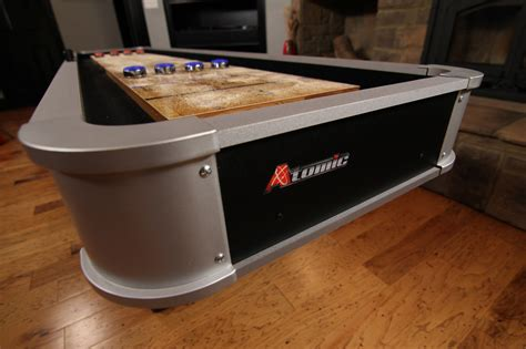 atomic 9 platinum shuffleboard table atomic 9 platinum recreation room shuffleboard table and