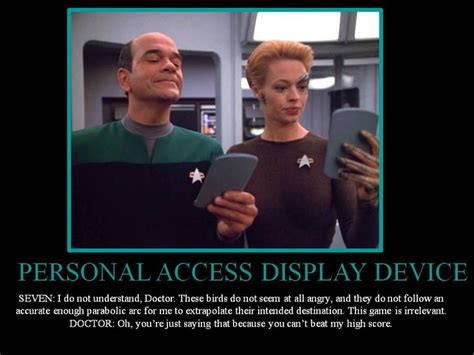 Star Trek Voyager Meme - star trek doctor and seven star trek pinterest