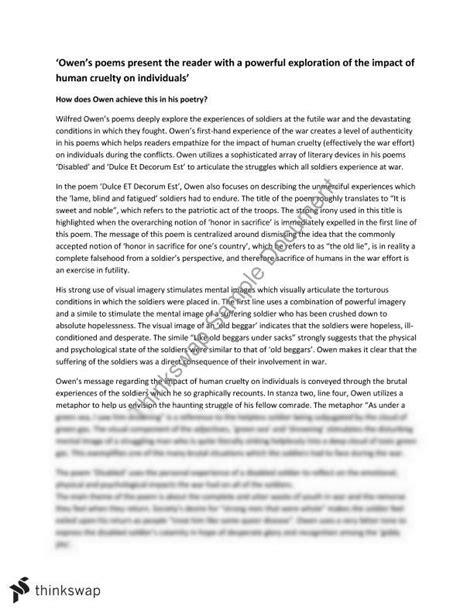 Wilfred Owen Essay by Wilfred Owen Essay Questions Argumentativemeaning X Fc2