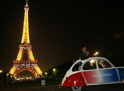 boat tour paris night paris night tour by citroen 2cv river seine cruise