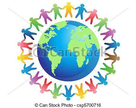 clipart mondo clipart vettoriali di mondo fratellanza il concetto
