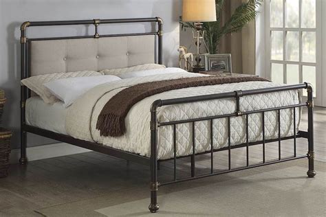 Rustic Metal Bed Frames by Scaffold Design Rustic Metal Bed Frame Sensation Sleep