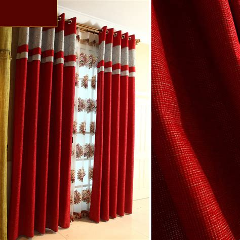 red bedroom curtains mastering the way of red bed curtains is not an accident