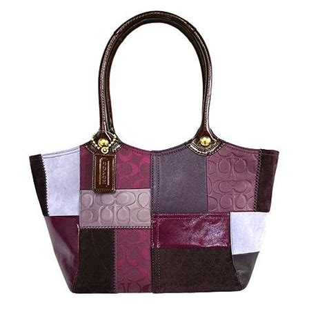 Coach Patchwork - coach bleecker sig leather patchwork tote berry multicolor