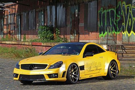 Auto Folieren Kosten Mercedes by Mercedes Sl 55 Amg Fahrzeugfolierung In Goldgelb