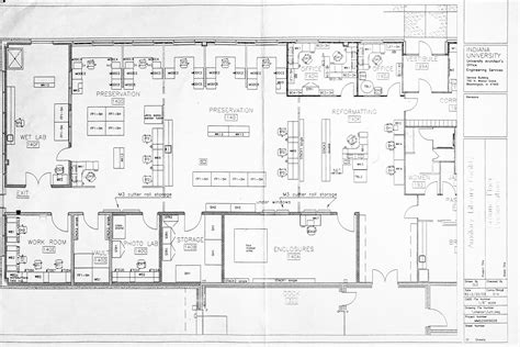 lab floor plan preservation lab facilities and sub units indiana