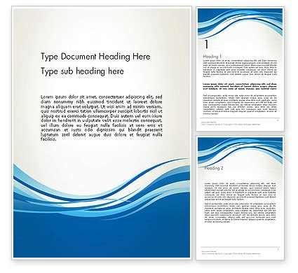 Word Report Templates Free Abstract Abstract Waved Word Template 13581 Poweredtemplate