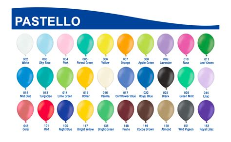 tavola colori html tabella colori palloncini newballoonstore