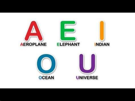 imagenes en ingles de las vocales aprende las vocales en ingl 233 s learn the vowels in english