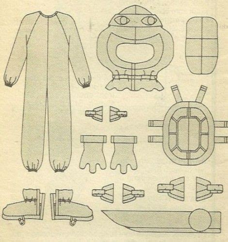 ninja uniform pattern the 25 best ninja turtle costumes ideas on pinterest