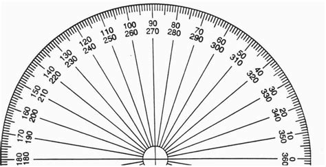 printable 4 inch protractor unit six our grade four math site