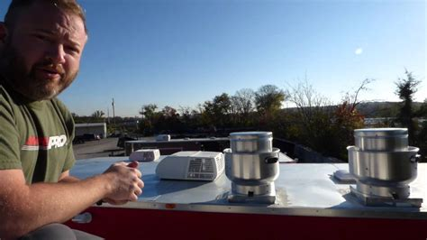 food trailer exhaust fans commerical grease hood exhaust fans on roof of concession