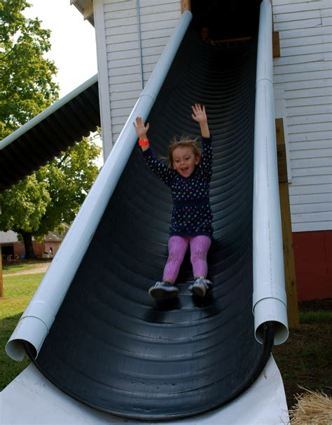 cheap slide idea diy playground backyard