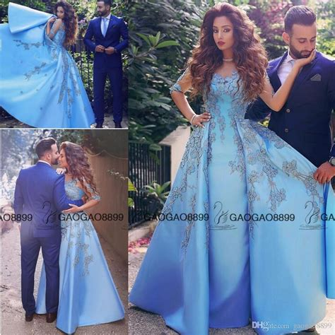 Dress Renda Baby baby blue prom dresses 2016 lace appliques half