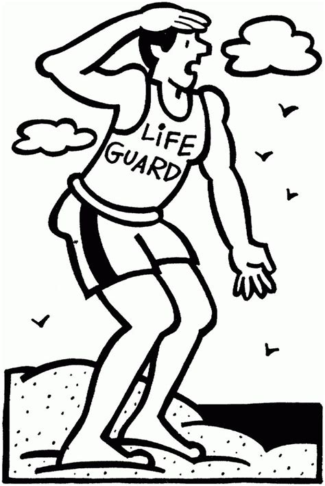 Lifeguard Coloring Page
