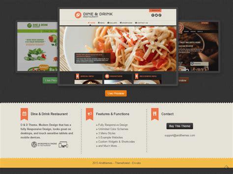wordpress restaurant layout 30 premium free restaurant wordpress themes pixinvent