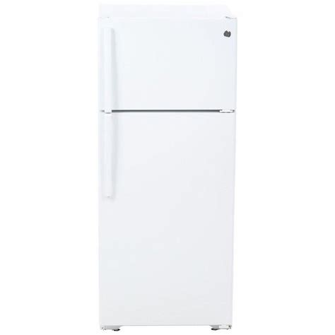 Freezer General ge 17 5 cu ft top freezer refrigerator in white gts18gthww the home depot
