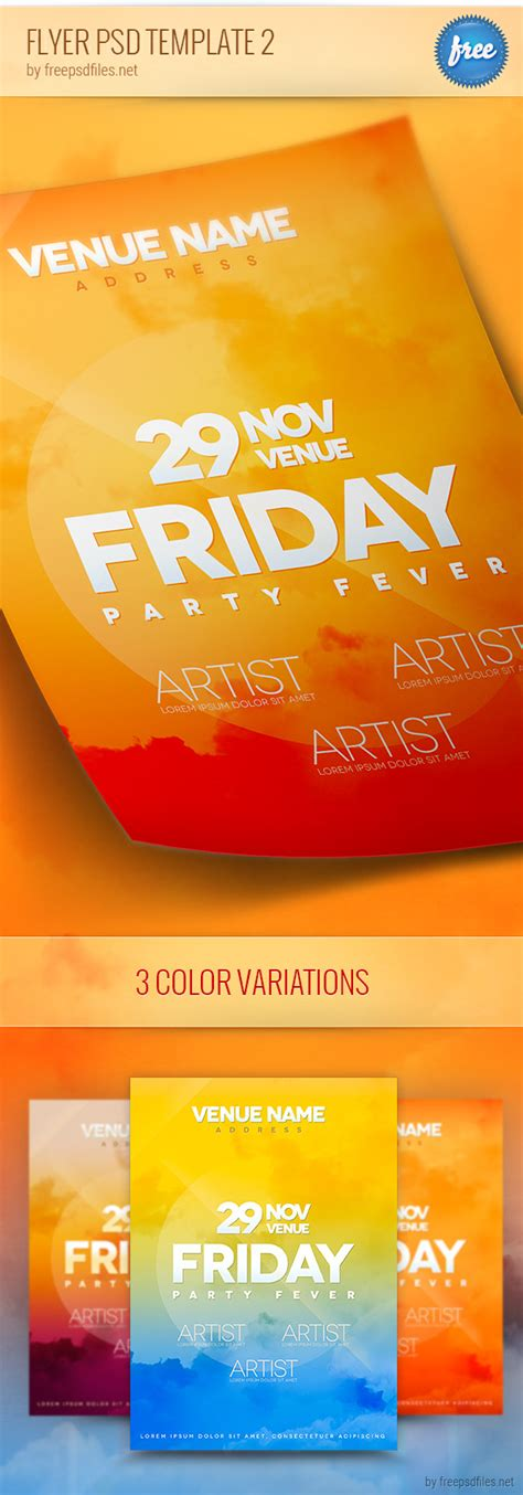 free psd flyer templates flyer psd template 2 free psd files