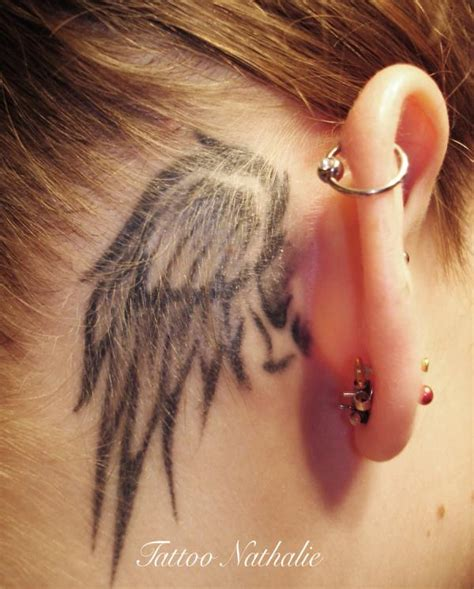 believe tattoo behind ear 33 best angel tattoos ideas for women styles weekly