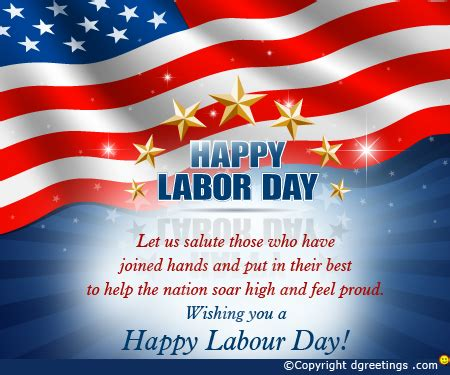 Let Us Salute Those Who Joined Labor Day Card