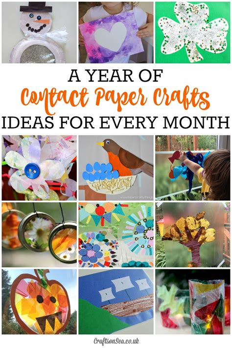 contact paper crafts seasonal contact paper crafts for every month crafts on sea