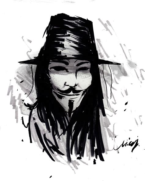 Drawing V For Vendetta by V For Vendetta By Nicollearl On Deviantart