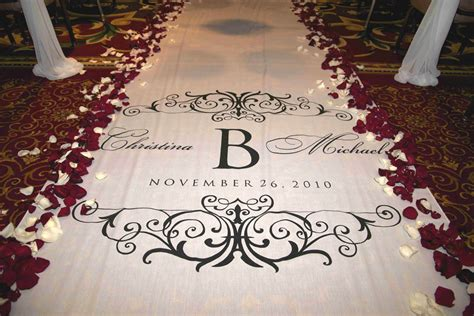 Wedding Aisle Runner Monogram by Aisle Runner Wedding Aisle Runner Custom By Starrynightdesign