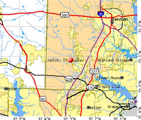 justin texas map justin texas tx 76247 profile population maps real estate averages homes statistics