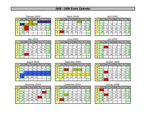 Gw Mba Calendar by Calendar Maker For Excel